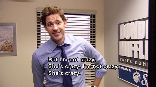 i'm not crazy jim halpert
